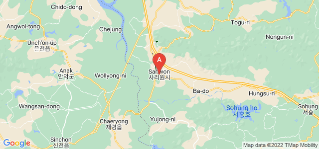map of Sariwon, North Korea