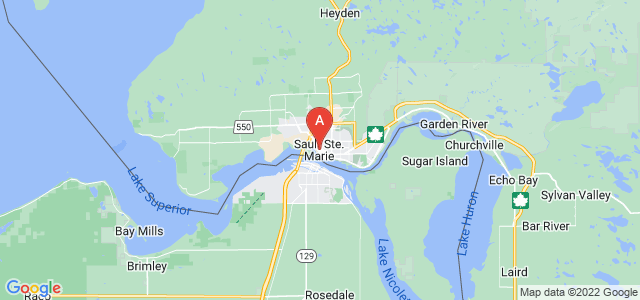 map of Sault Ste. Marie, Canada