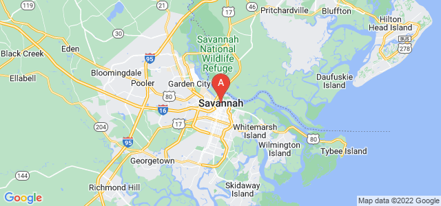 map of Savannah, United States of America