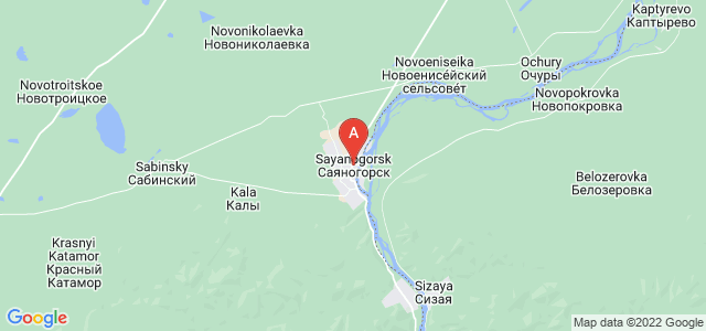 map of Sayanogorsk, Russia