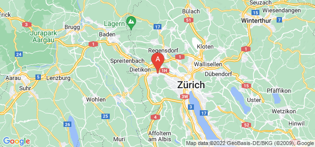 map of Schlieren, Switzerland