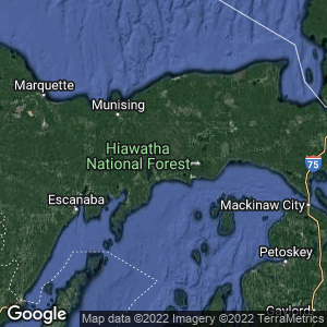 Static Map of Schoolcraft County, Michigan