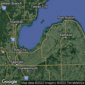 Static Map of Sebewaing, Michigan