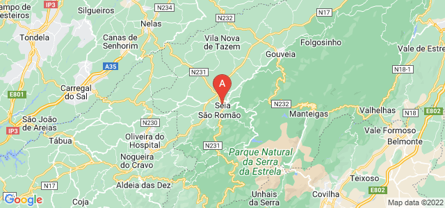 map of Seia, Portugal