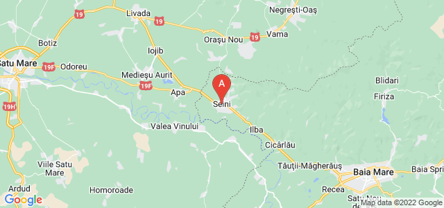map of Seini, Romania