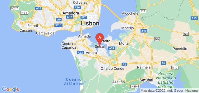 map of Seixal, Portugal