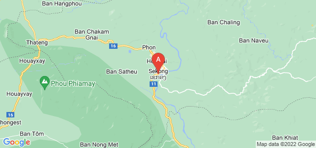 map of Sekong, Laos