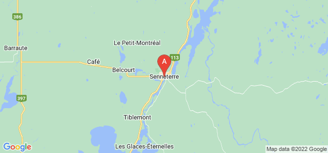 map of Senneterre, Canada
