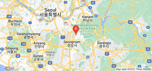 map of Seongnam, South Korea