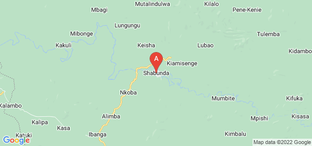 map of Shabunda, Democratic Republic of the Congo