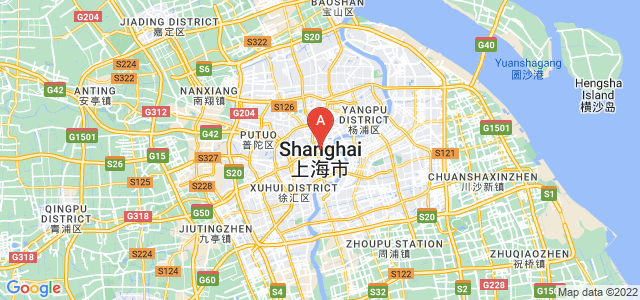 map of Shanghai, China