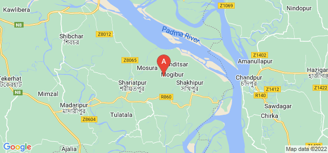 map of Shariatpur, Bangladesh