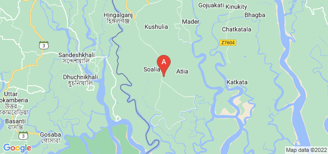 map of Shatkhira, Bangladesh