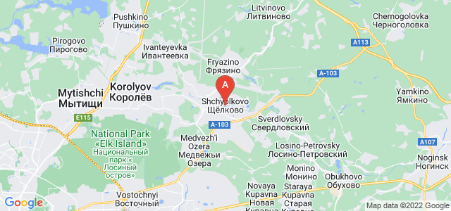 map of Shchyolkovo, Russia