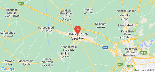 map of Sheikhupura, Pakistan