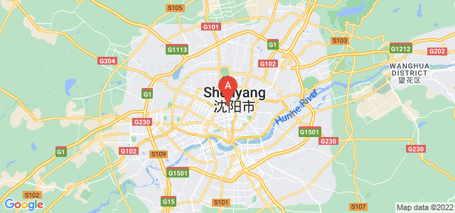map of Shenyang, China
