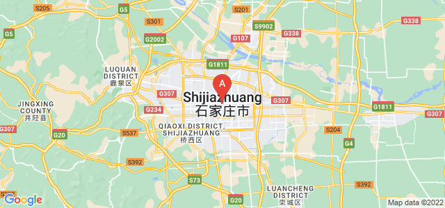 map of Shijiazhuang, China