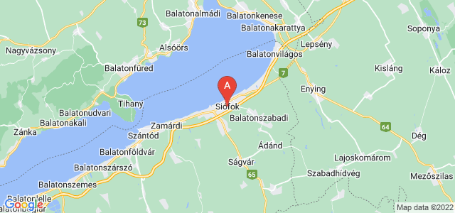 map of Siófok, Hungary