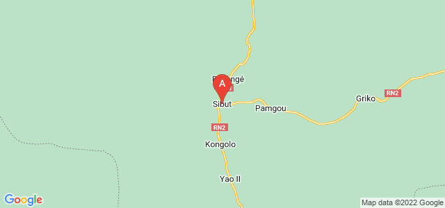 map of Sibut, Central African Republic