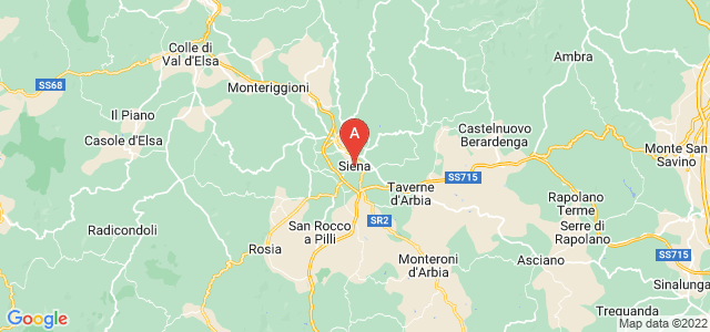 map of Siena, Italy