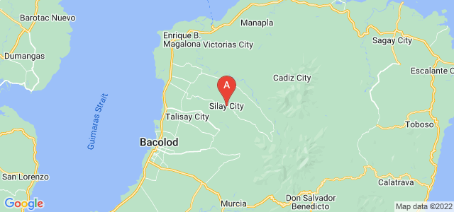 map of Silay, Philippines