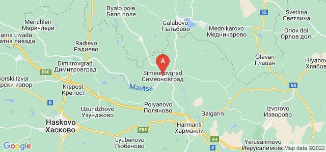 map of Simeonovgrad, Bulgaria