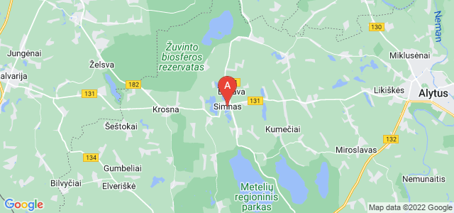 map of Simnas, Lithuania