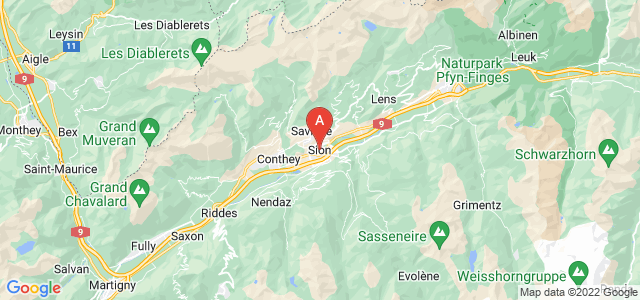 map of Sion, Switzerland