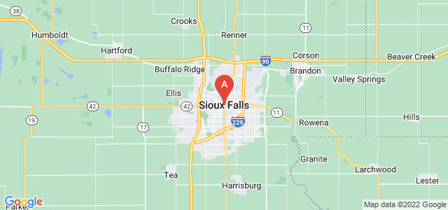map of Sioux Falls, United States of America