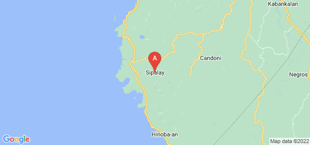 map of Sipalay, Philippines