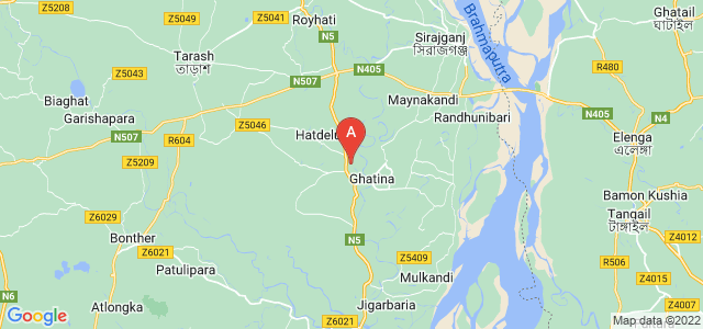 map of Sirajganj, Bangladesh