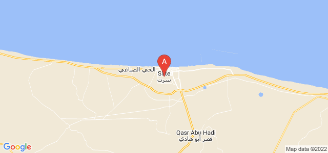 map of Sirte, Libya