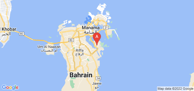 map of Sitra, Bahrain