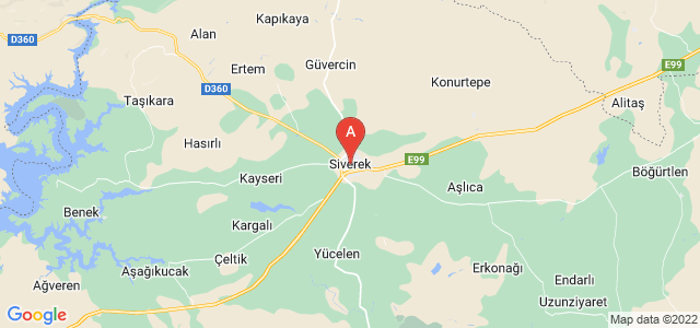 map of Siverek, Turkey
