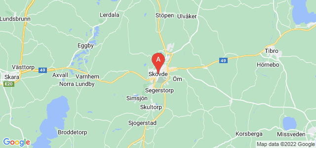 map of Skövde, Sweden