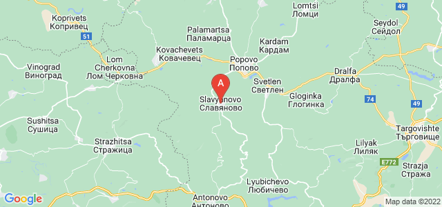 map of Slavyanovo, Bulgaria