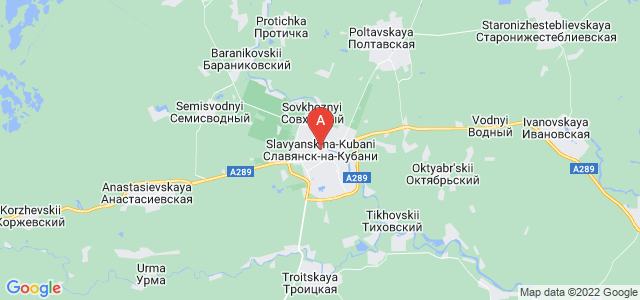 map of Slavyansk-na-Kubani, Russia