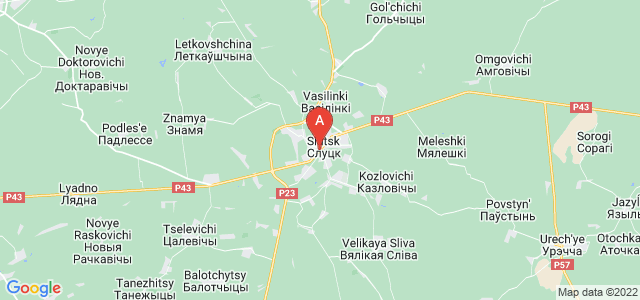map of Slutsk, Belarus