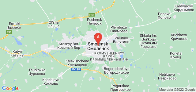 map of Smolensk, Russia
