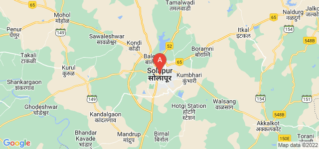 map of Solapur, India