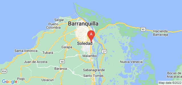 map of Soledad, Colombia