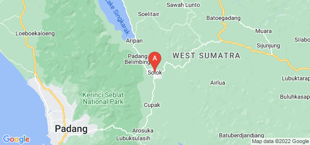 map of Solok, Indonesia