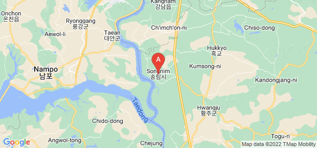 map of Songrim, North Korea