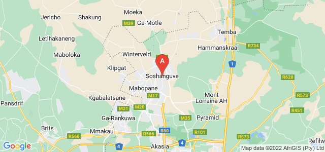 map of Soshanguve, South Africa