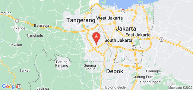 map of South Tangerang, Indonesia