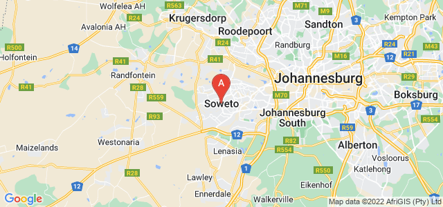 map of Soweto, South Africa