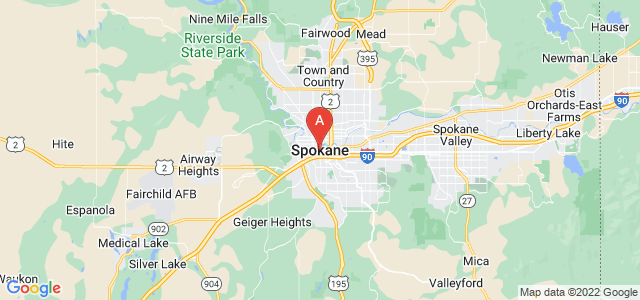 map of Spokane, United States of America
