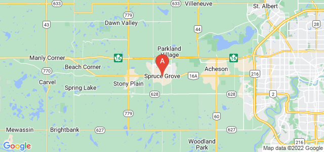 map of Spruce Grove, Canada