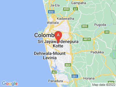 map of Sri Jayawardenapura Kotte, Sri Lanka