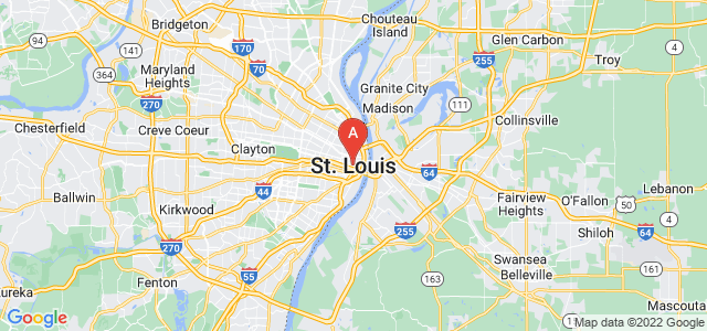map of St. Louis, United States of America
